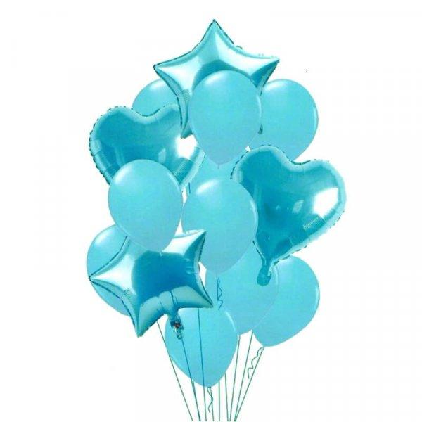 set 14 baloane din folie stelute si inimioare 1