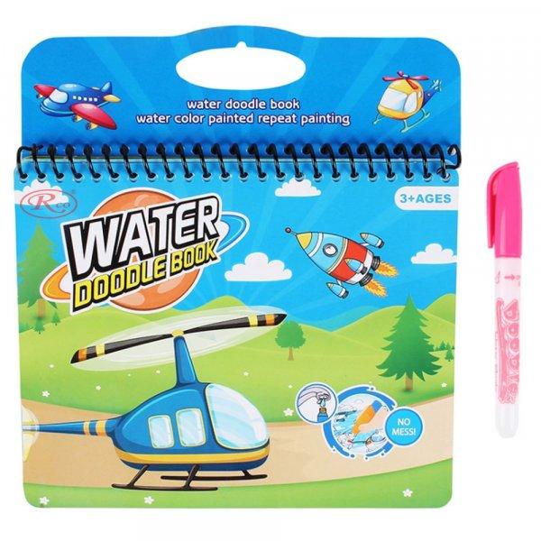 carticica de colorat pe baza de apa elicopter