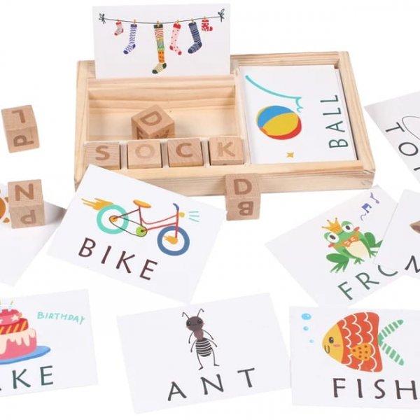 cartonase si cuburi din lemn sa invatam engleza 2