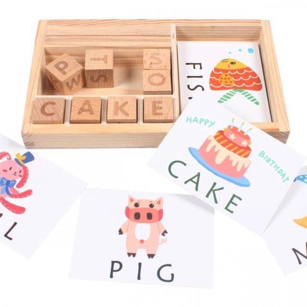 cartonase si cuburi din lemn sa invatam engleza 5
