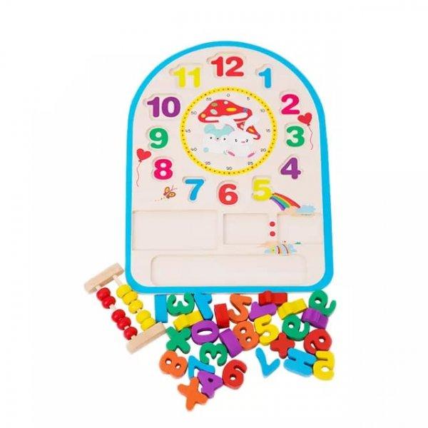 ceas din lemn cu abac si calcule matematice 2