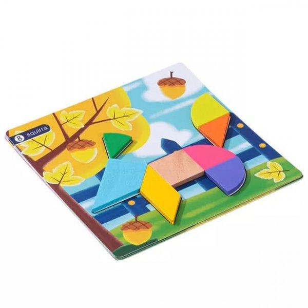 joc de inteligenta tangram cu forme geometrice 3