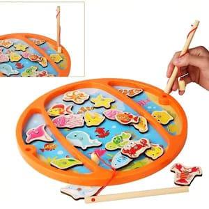 joc din lemn 3in1 de pescuit