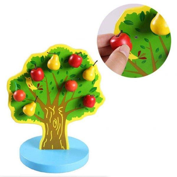 jucarie din lemn 17 piese copacelul cu fructe 1