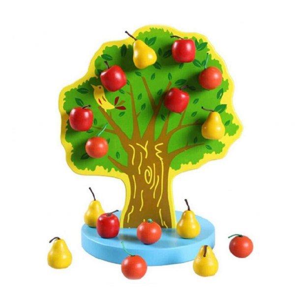 jucarie din lemn copacelul cu fructe
