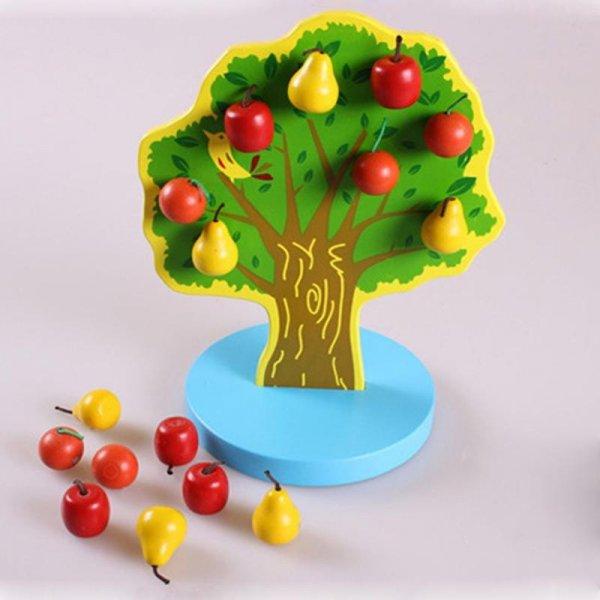 jucarie din lemn 17 piese copacelul cu fructe 3