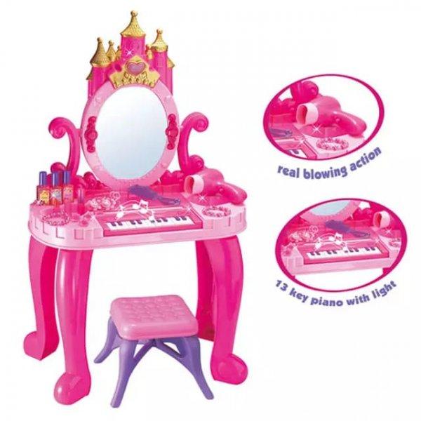 masuta de toaleta cu pian si scaunel
