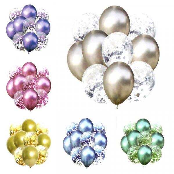 set 10 baloane confetti