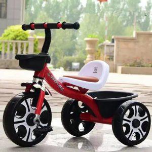 tricicleta copii cu pedale rosu