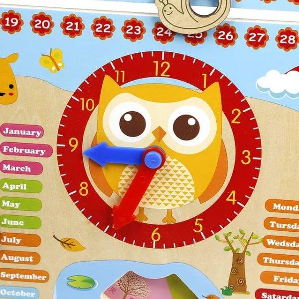 ceas si calendar din lemn little boo 1