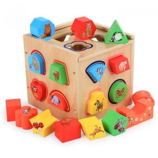 cub sortator din lemn 5in1 2