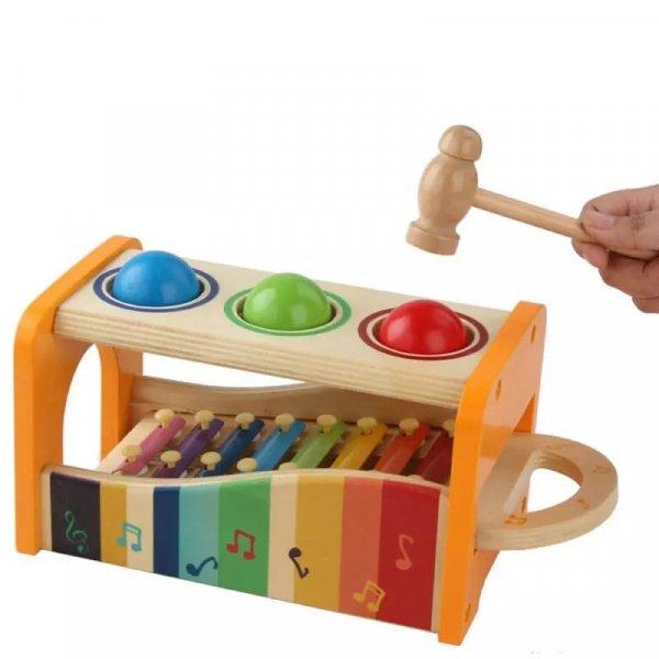 joc montessori cu ciocanel si xilofon 2