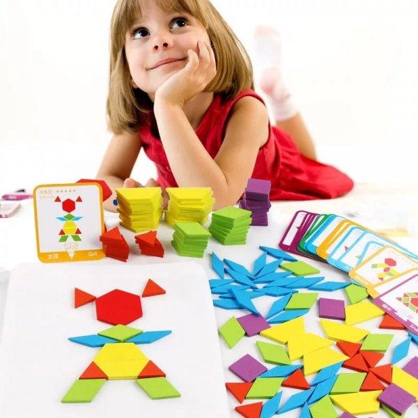 joc montessori tangram 155 piese 2