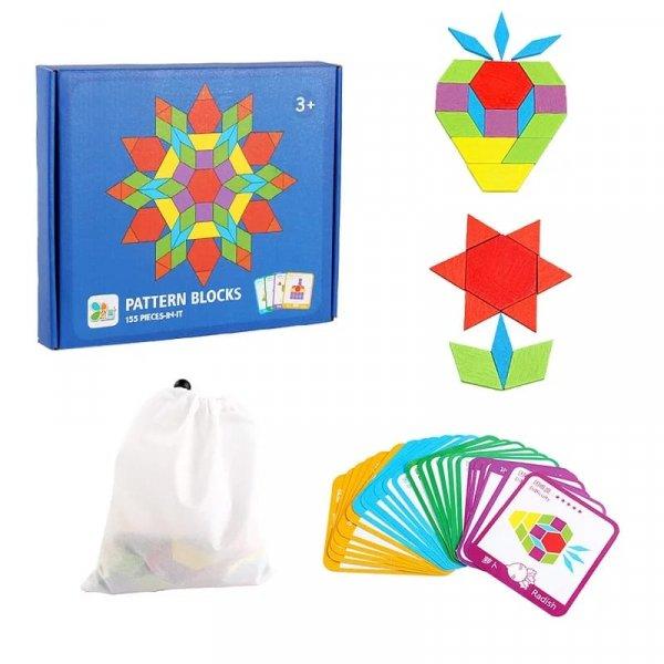 joc montessori tangram 155 piese 3