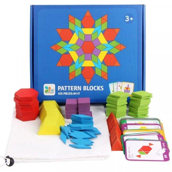 joc montessori tangram 155 piese