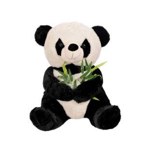 urs panda din plus cu frunza de bambus