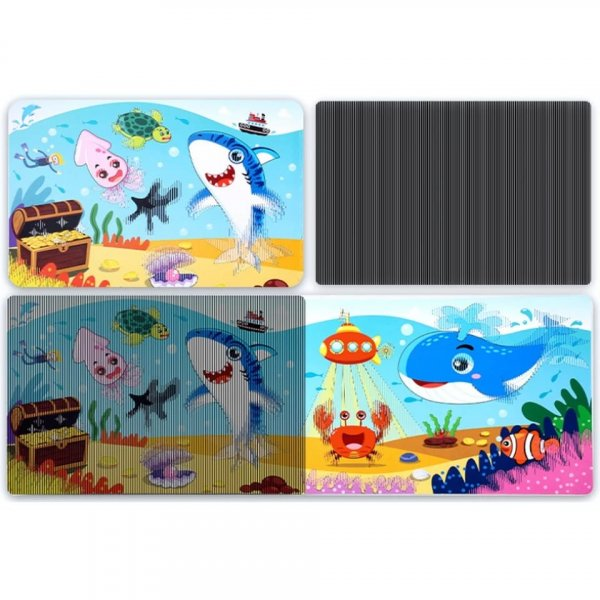 carte de colorat cu apa si animalute 3d 4