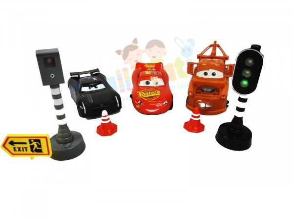set masinute cars cu semafor si radar