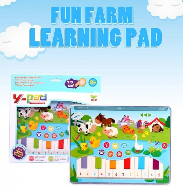 tableta de jucarie cu pian animalute din ferma 1