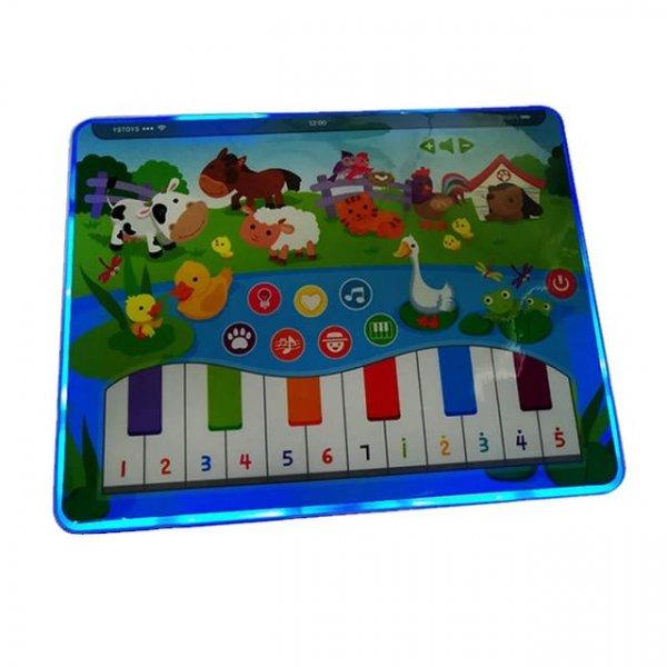 tableta de jucarie cu pian animalute din ferma