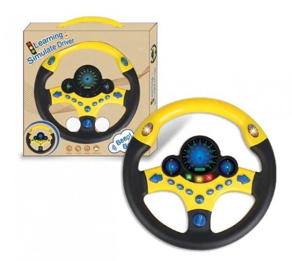 volan de jucarie cu sunete si lumini simulate driver 1