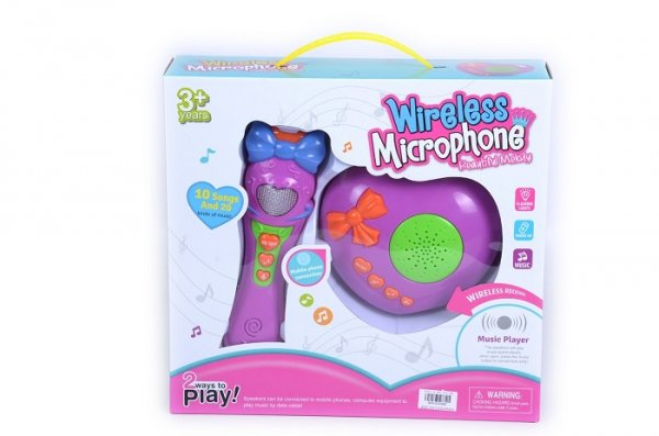 microfon de jucarie wireless 3