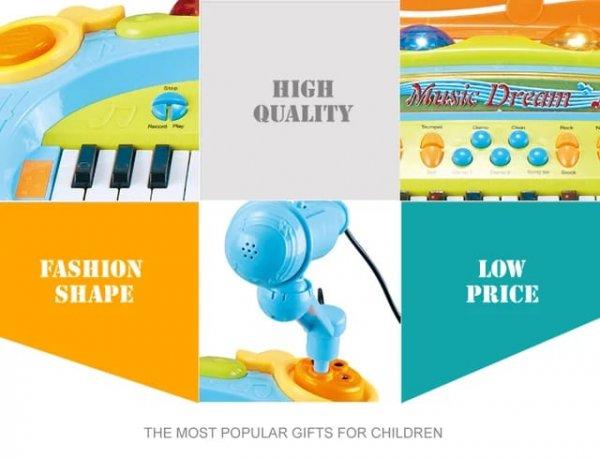 pian de jucarie cu microfon 1