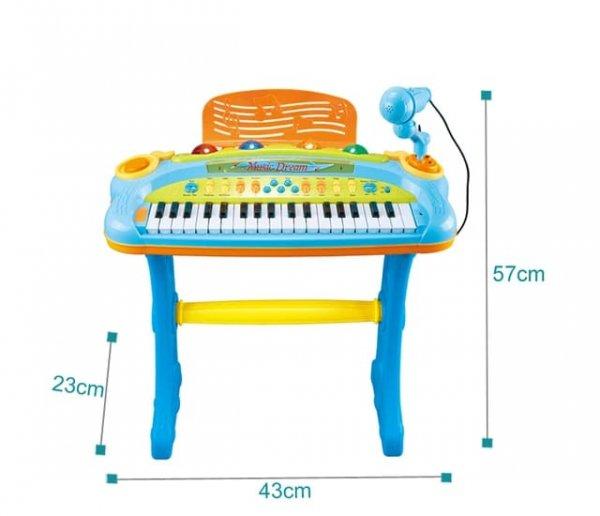 pian de jucarie cu microfon 4