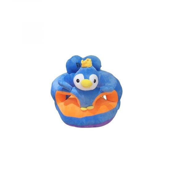 fotoliu din plus printul pinguin albastru 1 2