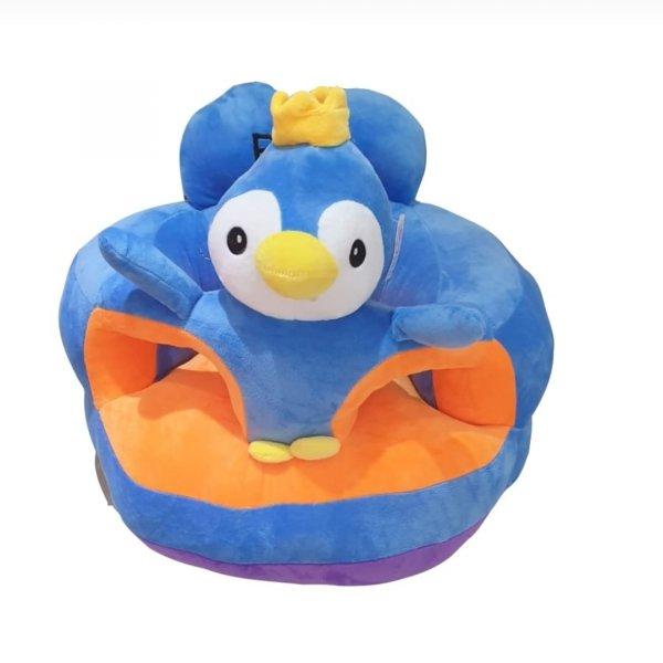 fotoliu din plus printul pinguin albastru 1
