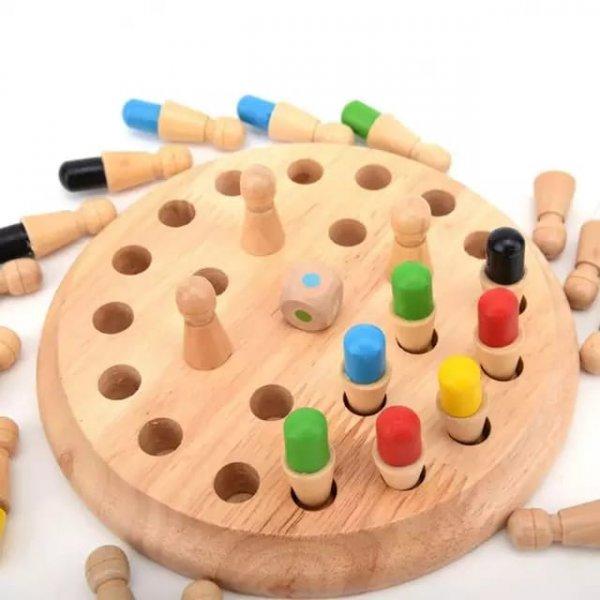 joc de memorie din lemn memory chess 2
