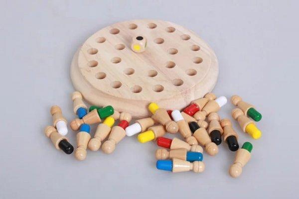 joc de memorie din lemn memory chess