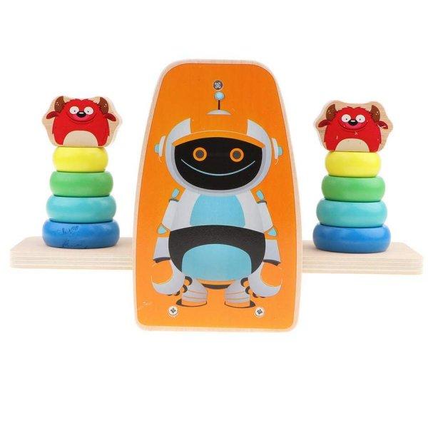 joc de stivuit din lemn robotelul si balanta 3
