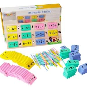 joc montessori 2in1 arithmetic domino 2