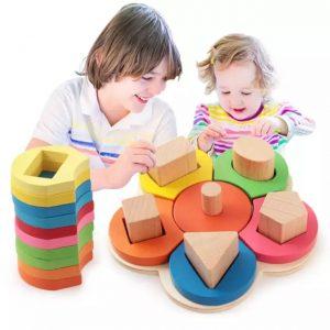 joc montessori de sortat din lemn