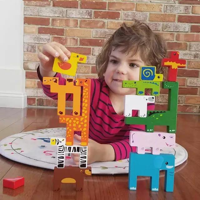 joc tetris din lemn cu animalute 1