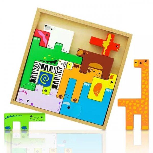 joc tetris din lemn cu animalute 2