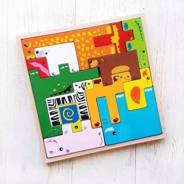 joc tetris din lemn cu animalute 3