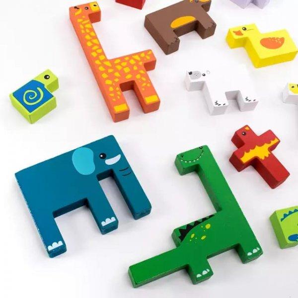 joc tetris din lemn cu animalute 5