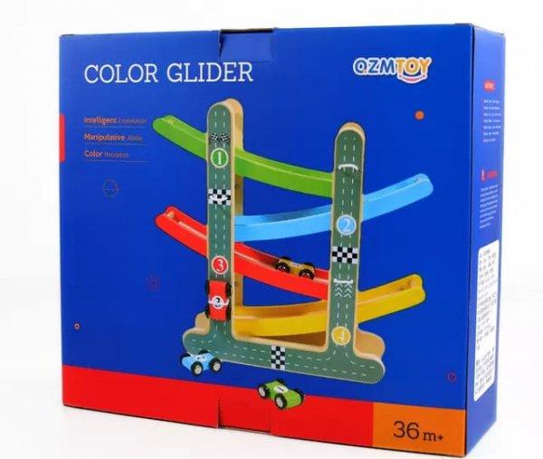 pista de curse din lemn color glider 1
