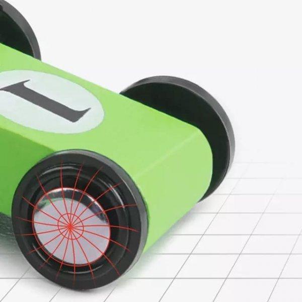 pista de curse din lemn color glider 4