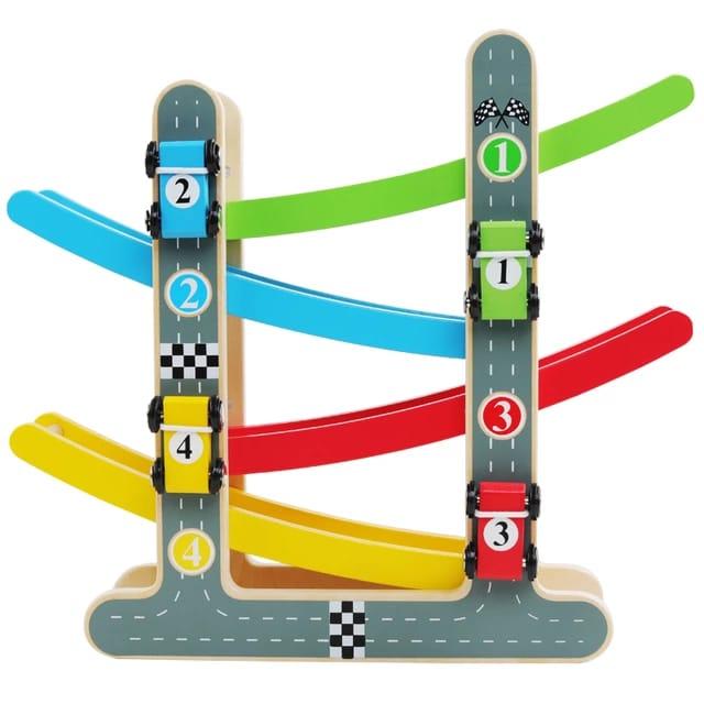 pista de curse din lemn color glider