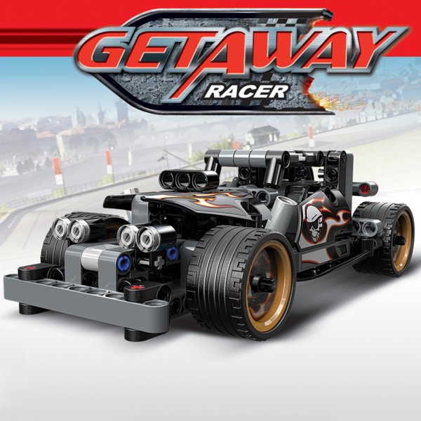 set lego 170 piese masinuta getway racer 2