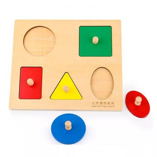 sortator din lemn montessori forme geometrice 1