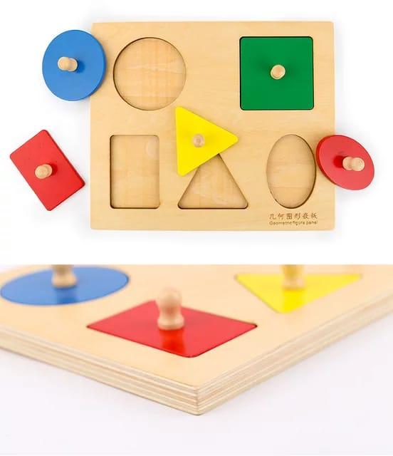 sortator din lemn montessori forme geometrice 2