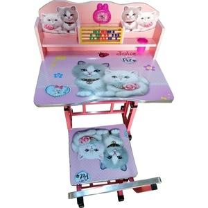 birou pentru copii cu scaunel si numaratoare pisicuta 1