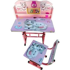 birou pentru copii cu scaunel si numaratoare pisicuta 2