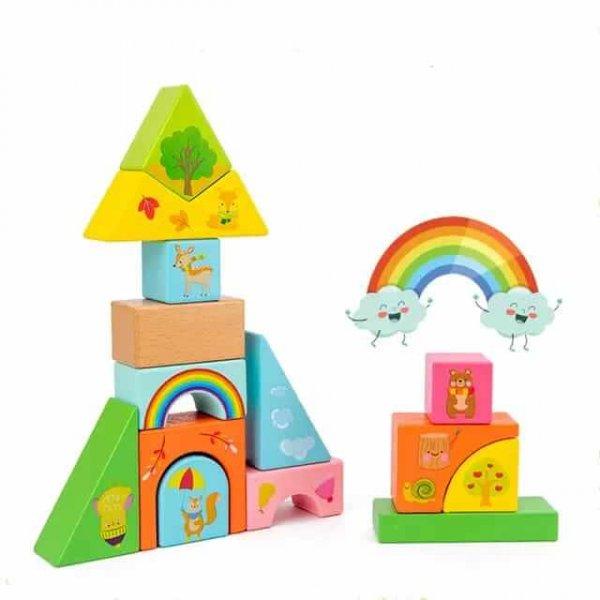 joc de stivuit din lemn cutiuta cu forme geometrice 4