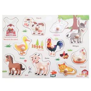 puzzle din lemn animale domestice 1