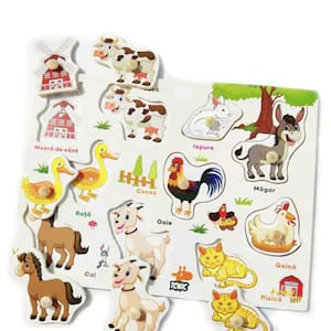 puzzle lemn animale domestice